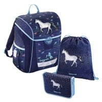 Školská taška - 3-dielny set, Baggymax Džínsový koník