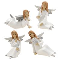 Vánoční anděl 8 cm bílý, 1ks