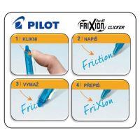 Roller gelový PILOT Frixion Clicker 0,7 modrý