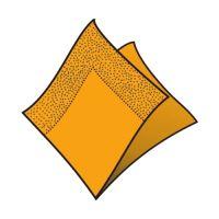 Ubrousky 2-vrstvé 33 x 33 cm oranžové 50 ks