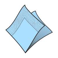 Ubrousky 2-vrstvé 33 x 33 cm světle modré 50 ks