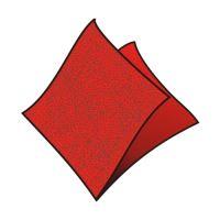 Ubrousky 33 x 33 cm červené 100 ks