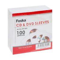 Obálka CD 125x125 mm papírová FOSKA 100 ks