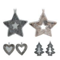 Vánoční ozdoby - dřevěné, různé tvary 13 cm, 1ks