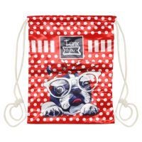 Vrecko na prezuvky - Dog red dots