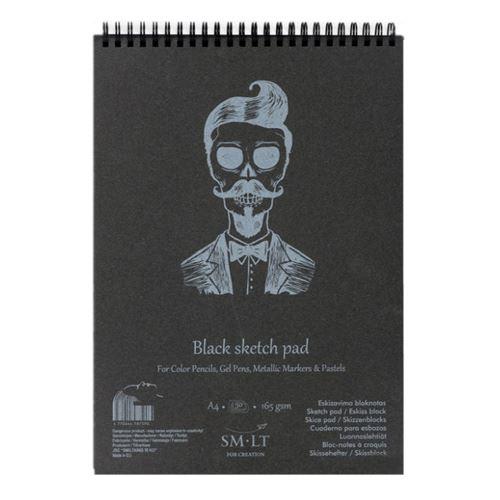 SMLT Malování na malbu - černý A4, 165g, 30 l