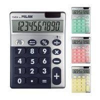 Kalkulačka MILAN stolní 10-místná Silver
