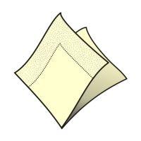 Ubrousky 2-vrstvé 33 x 33 cm béžové 50 ks