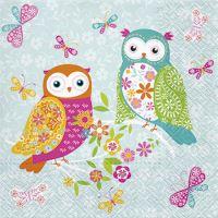 Ubrousky PAW L 33x33cm Magical Owls
