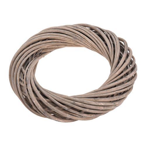 Dekorace - Věnec proutěný 30 cm, dřevěný hnědý, 1ks