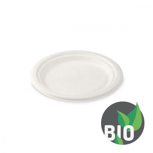 Talíř kulatý BIO cukrová třtina 17,5 cm, 50 ks