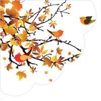 Ubrousky PAW R 32cm Autumn Birds Round