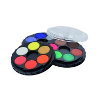 Barvy vodové okrouhlé 18 barev