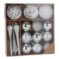 Vianočné ozdoby - PP treasu - rôzne tvary 6-16 cm, set 15ks