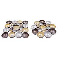 Svícen kovový - barevný 16x16 cm, mix / 1ks
