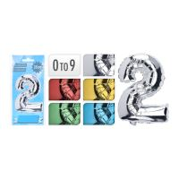 Balón narodeninový čísla na výber 0-9, mix farieb, 1ks