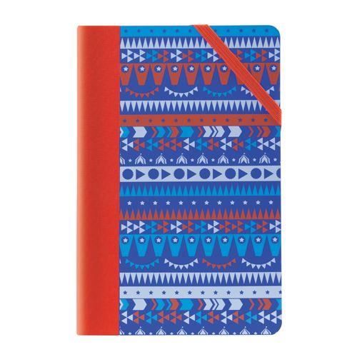Zápisník čverečkovaný MILAN 21x14 cm circus modrý