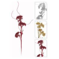 Dekorace - Větev s květy 68 cm, mix/1ks