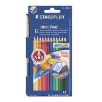 """Akvarelové tužky, se štětcem, STAEDTLER """"Noris Club"""", 12 různých barev"""