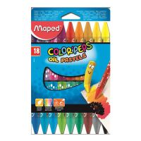 "Pastely olejové MAPED ""COLOR`PEPS"", 18 ks"