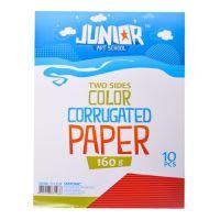 Dekorační papír A4 červený vlnkový 160 g, sada 10 ks
