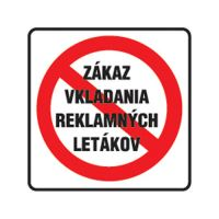 Etikety Info - Zákaz vkládání reklamy 85x85 mm