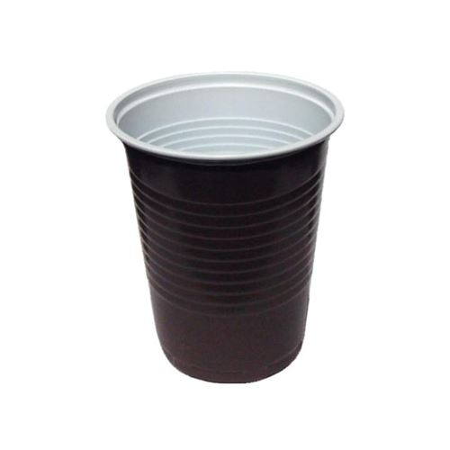 Pohár kávový hnědo-bílý 0,18 l, 15 ks