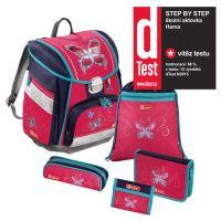Školní taška - 5-dílný set, Step by Step Touch, Motýl