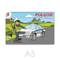 Omalovánka A5 Policie