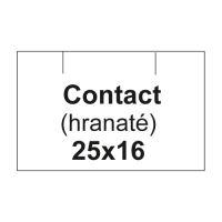Etikety cen. CONTACT 25x16 hranaté - 1125 etikiet/kotúčik, biele