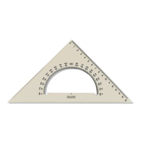 Pravítko  trojuhelník s uhloměrem
