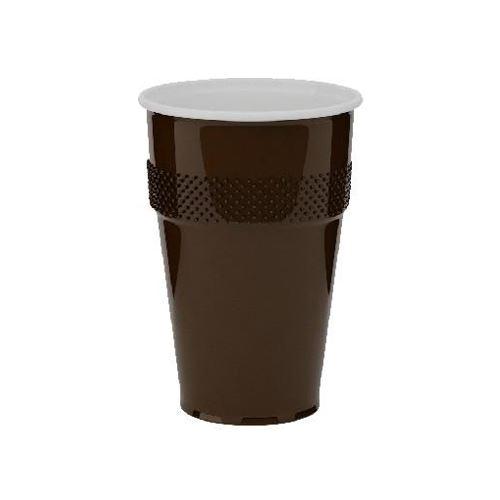 Automatový pohár hnědo-bílý 0,18 l, 100 ks