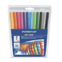 """Fixy, 1 mm, vypratelné, STAEDTLER """"Noris Club, 12 různých barev"""
