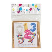 """Balón narozeninový 100 cm barevný ve tvaru čísla """"6"""""""
