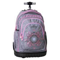 Školní batoh na kolečkách Trolley Play, Ornament Grey