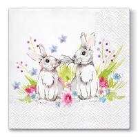 Ubrousky PAW L 33x33cm Bunnies in Love