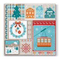 Obrúsky PAW L 33x33cm Winter Holiday