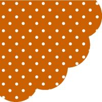 Ubrousky PAW R 32 cm Dots Terracotta