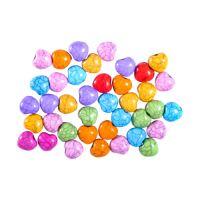 Dekorační korálky srdíčka mix barev 15 g