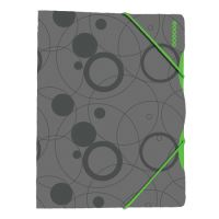 Desky s gumičkou A4, Duo Colori šedo-zelená