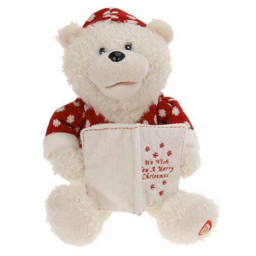 Medvěd - plyšový hrající na baterie 26 cm