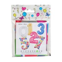 """Balón narozeninový 100 cm hvězdy ve tvaru čísla """"9"""""""