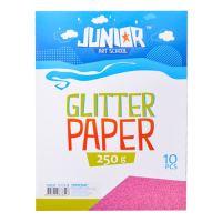 Dekorační papír A4 růžový glitter 250 g, sada 10 ks