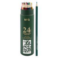 Pastelky šestihranné M&G v pouzdře, sada 24 ks