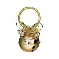 Dekorace závěsná - Rolnička zlatá 10 cm, 1ks