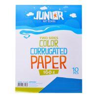 Dekorační papír A4 modrý vlnkový 160 g, sada 10 ks