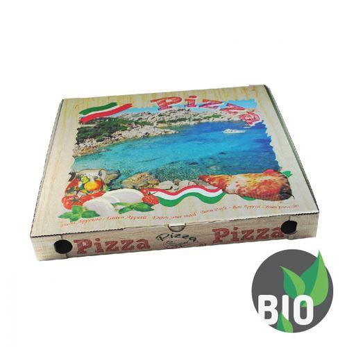 Krabice na pizzu z vlnité lepenky 46 x 46 x 5 cm, 100 ks