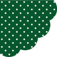 Obrousky PAW R 32 cm Dots Dark Green
