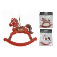 Vánoční dekorace závěsná - kůň 13 cm, 1ks