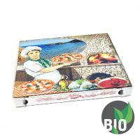 Krabice na pizzu z vlnité lepenky 40 x 40 x 3 cm, 100 ks